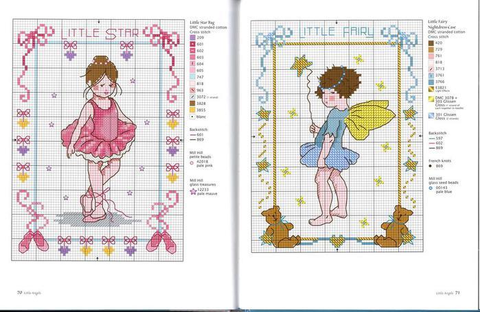 Вышивка крестом для девочек схемы 12