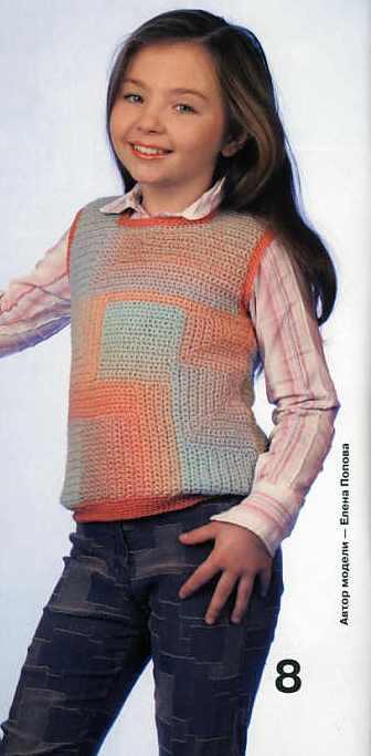 жилетка крючком для девочки, вязание шалей крючком схемы и модели...