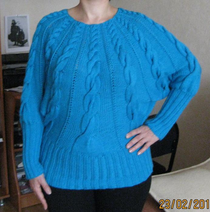 Вязание свитера по кругу сверху