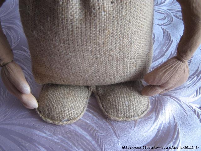 Домовёнок своими руками мастер класс из мешковины