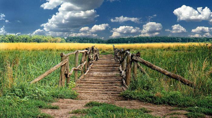 мост в деревне (700x392, 148Kb)