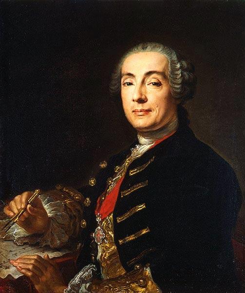 Франческо Бартоломео  Растрелли. Худ. Лукас Конрад Пфанцель 1750-1760 (503x600, 64Kb)