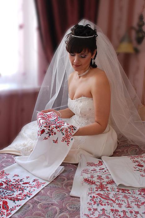 свадебный рушник схема