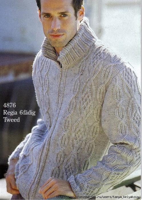 Вязание мужская кофта