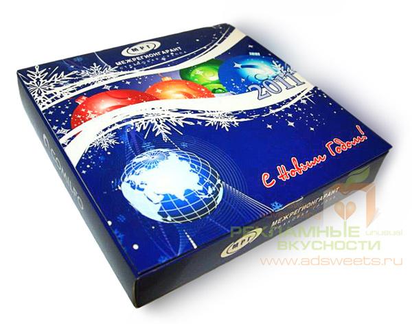 Новогодние конфеты с логотипом