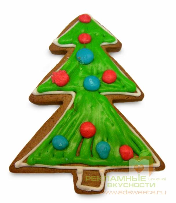 Рекламное печенье к Новому году