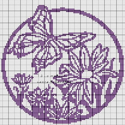 Бабочки , насекомые - схемы филейного вязания крючком - Ярмама - Ярославский портал для родителей и детей.