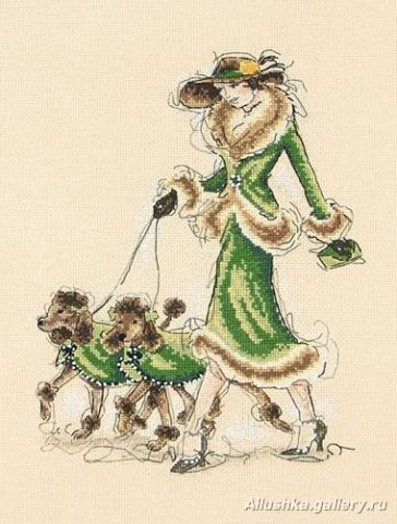 дама в зеленом (364x480, 46Kb)