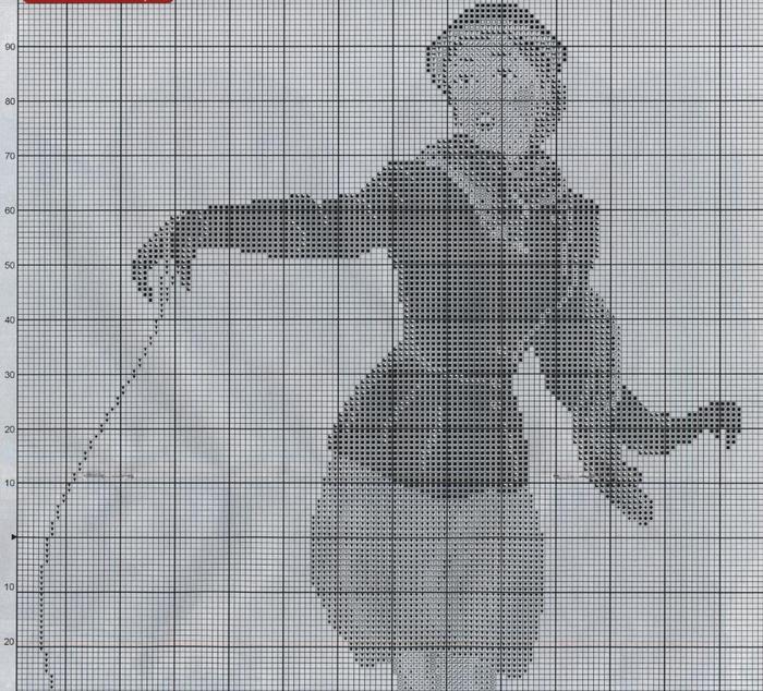 Дама с пуделем схема 1