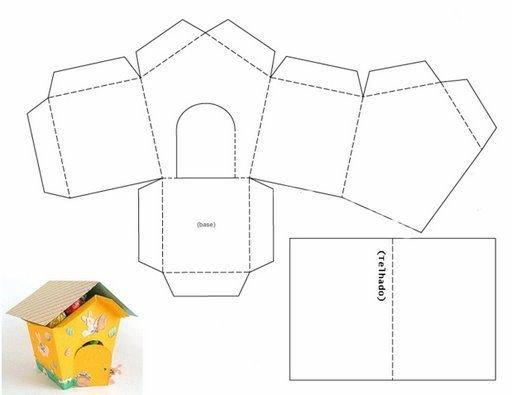 Как сделать домики из коробок и бумаги своими руками