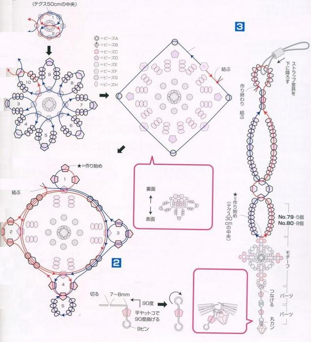 схема плетения простого