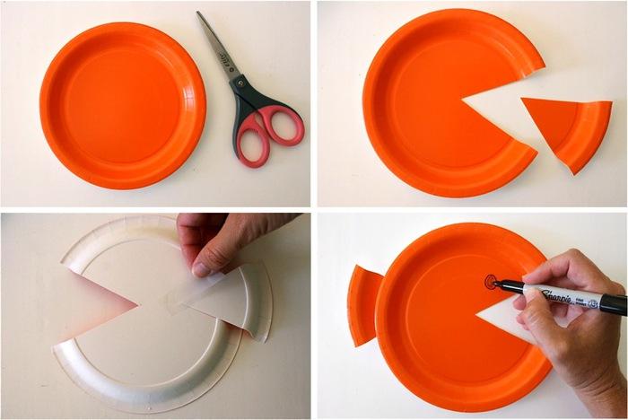 Все поделки из пластмассовых тарелок 184
