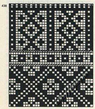 схема узора для жаккардового вязания 2 (318x365, 42Kb)