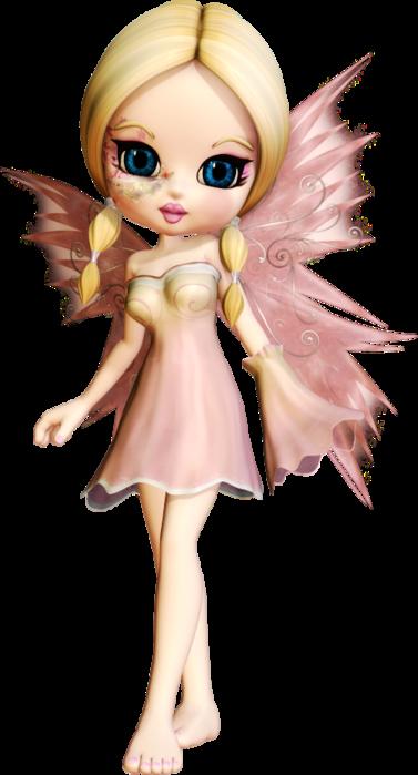 SSLisa - Cookie - Cute Elves - Pink (377x700, 242Kb)