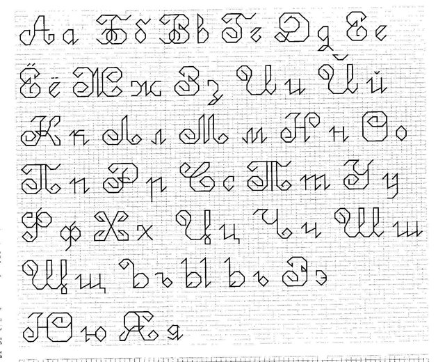Надпись в вышивке крестом