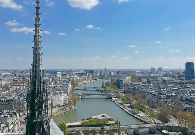 Paris depuis Notre-Dame  Flickr - Photo Sharing! (648x449, 645Kb)