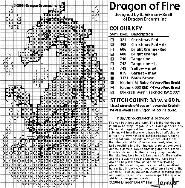 Dragon Of Fire (619x631, 238Kb)