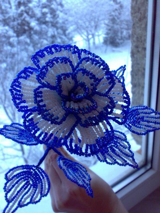 техника плетения цветка,