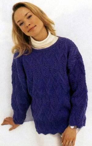 Схема вязания крючком пуловера.