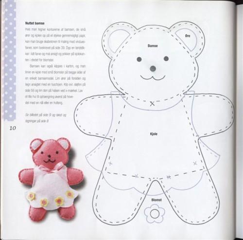Медвежонок из фетры выкройка 80