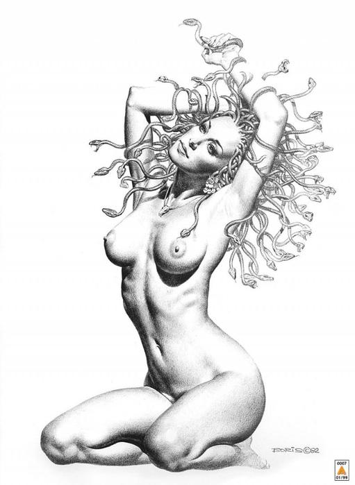 голые женщины карандашом рисунки