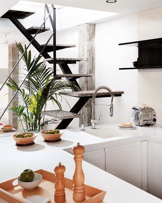 Интерьеры квартир 2011 - двухуровневая квартира в Мадриде 5 (560x700, 102Kb)