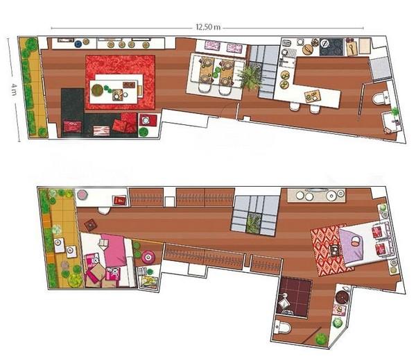 Интерьеры квартир 2011 - двухуровневая квартира в Мадриде 11 (600x520, 73Kb)
