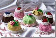 вязаные пироженки