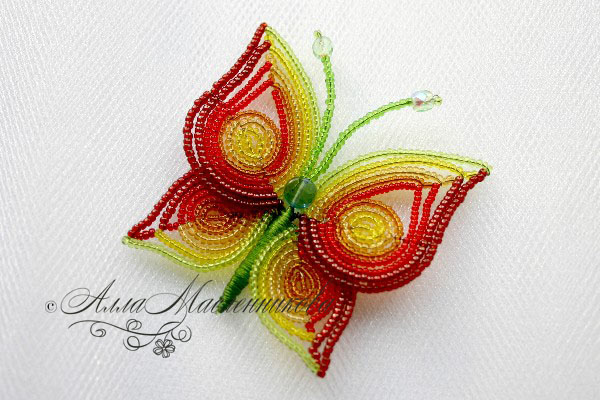 бабочки из бисера мастер-класс