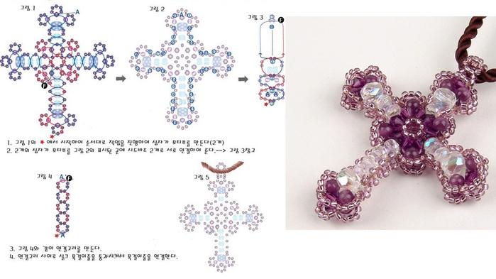 кресты из бисера фотографии
