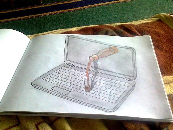 в 3D рисунках карандашом