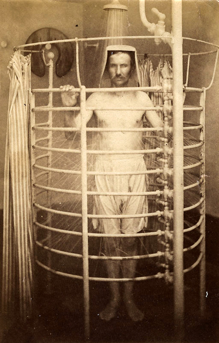 Ablutions at Mens' Spa, Aix-les-Bains, France, circa 1870