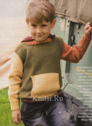 Вязаный Детский Пуловер Доставка