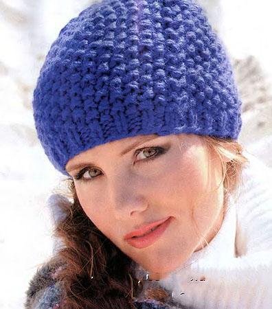 женская осенняя шапка схема