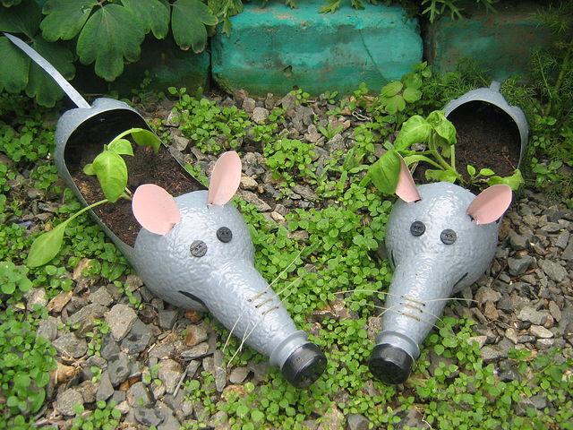 Мышки норушки из пластиковых бутылок