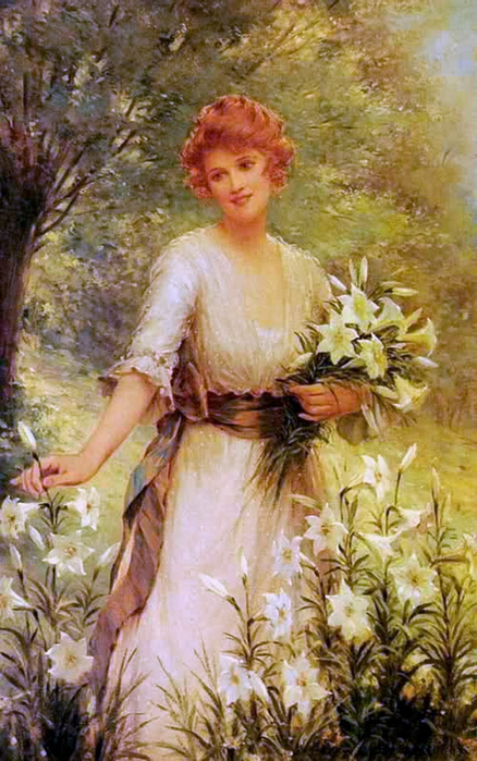 2382183_Sydney_Kendrick_Picking_Wild_Flowers (438x700, 278Kb)