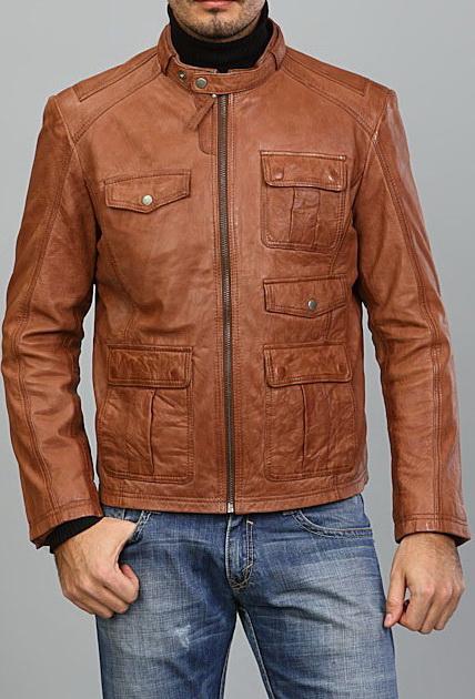 Мужские кожаные куртки ARBEX.