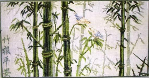 Бамбук-вышивка крестом.