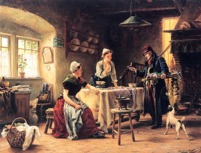 Portielje Gerard (1856-1929)-Le-colporteur-Sun (700x535, 384Kb)