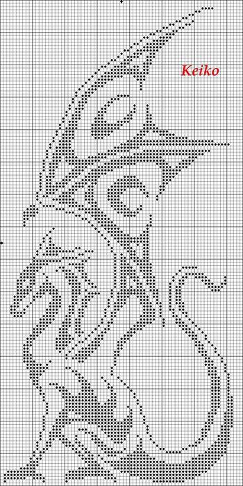 Вышивка крестиком драконы схема