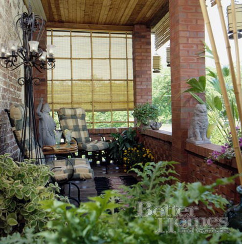 for Enclosed porch furniture ideas