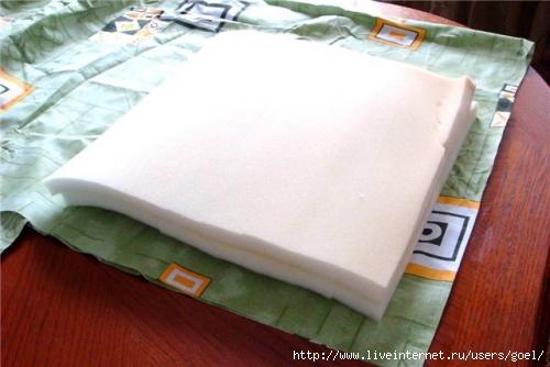 Как сделать подушки из поролона своими руками