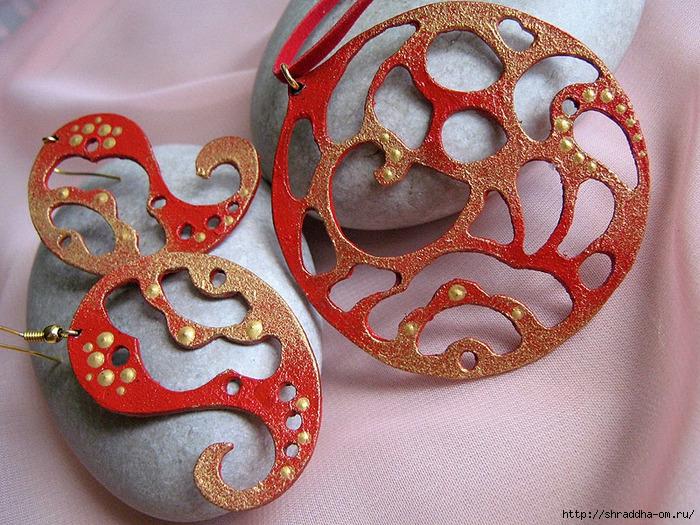 набор «Восток — дело тонкое», серьги, кулон, hand made, автор Shraddha, 1 (700x525, 394Kb)