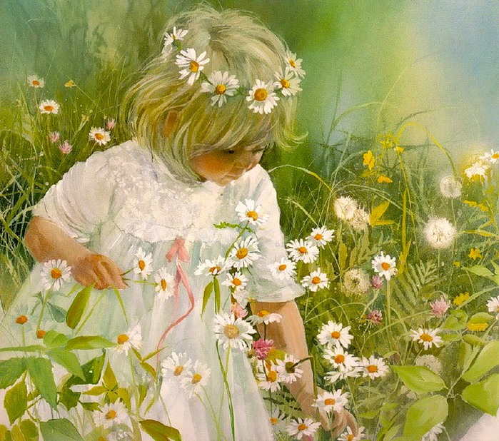 Carolyn Blish Daisy Crown (700x618, 184Kb)