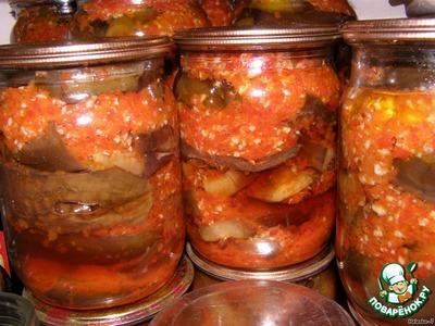 Тёщин язык из баклажанов на зиму рецепт с зеленью