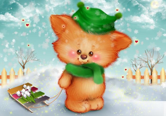 Животные картинки красивые нарисованные для детей 13