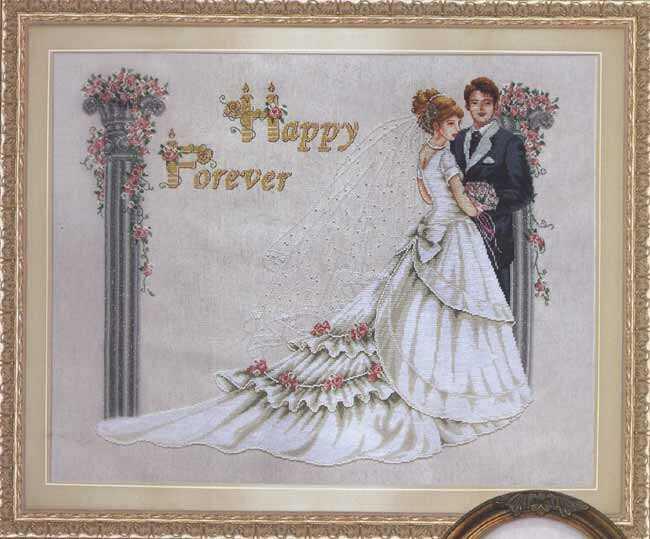 схемку вышивки Свадьба на