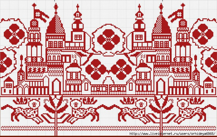 Схема для вышивки хлебосольного рушника.  Союзные...  Нажмите на изображение для загрузки варианта для печати.