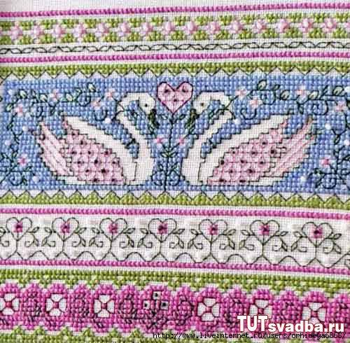 Орнаменты вышивки рушников крестом, схема, узор.