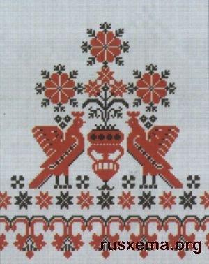 Узор для вышивки крестиком рушника на